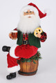 CHRISTMAS DECORATIONS - OKTOBERFEST SANTA FIGURINE - COLLECTIBLE SANTA FIGURINE