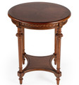 CANTERBURY SIDE TABLE - END TABLE - OLIVE ASH BURL - FREE SHIPPING*