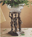 THREE GRACES CENTERPIECE STAND WITH CRYSTAL BOWL