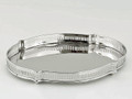 """""""BALMORAL"""" OVAL GALLERY TRAY - NICKEL FINISH SERVING TRAY"""