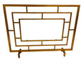 """""""WILTSHIRE"""" GLASS PANEL FIRE SCREEN - ANTIQUE GOLD"""
