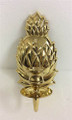 """""""CHARLESTON"""" POLISHED BRASS PINEAPPLE CANDLE WALL SCONCE - EACH"""