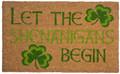 """DOOR MATS - """"CELTIC SHENANIGANS"""" COIR DOORMAT - IRISH WELCOME MAT - 17"""" x 28"""""""