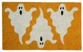 """DOOR MATS - GHOSTLY TRIO HALLOWEEN COIR DOORMAT - 17"""" X 28"""" - WELCOME MAT"""