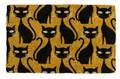 """SPOOKY BLACK CATS COIR DOORMAT - 18"""" X 30"""" - HALLOWEEN DOOR MAT - WELCOME MAT"""