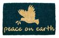 "PEACE ON EARTH CHRISTMAS WELCOME MAT - 18"" X 30"" - COIR DOORMAT"