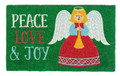 "CHRISTMAS ANGEL COIR DOORMAT - 17"" X 28"" - CHRISTMAS WELCOME MAT"