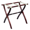 """LUGGAGE RACKS - """"WESTMINSTER"""" WOODEN LUGGAGE RACK - DARK MAHOGANY FRAME WITH PETIT POINT STRAPS"""