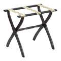 """LUGGAGE RACKS - """"WESTMINSTER"""" WOODEN LUGGAGE RACK - BLACK FRAME WITH PETIT POINT STRAPS"""