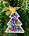 CHRISTMAS ORNAMENTS - MURANO GLASS MILLEFIORI CHRISTMAS TREE ORNAMENT