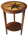 DARTMOUTH ROUND SIDE TABLE WITH STARBURST INLAY - FREE SHIPPING*