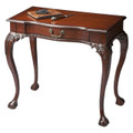 CHIPPENDALE STYLE WRITING DESK - CONSOLE TABLE - PLANTATION CHERRY FINISH - FREE SHIPPING*
