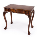 CHIPPENDALE STYLE WRITING DESK - CONSOLE TABLE - VINTAGE OAK FINISH - FREE SHIPPING*