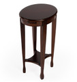 COVENTRY INLAID SIDE TABLE WITH PULL OUT SHELF - CHESTNUT BURL FINISH - FREE SHIPPING*