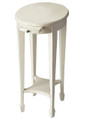COVENTRY PEDESTAL TABLE WITH PULL OUT SHELF - COTTAGE WHITE FINISH - FREE SHIPPING*