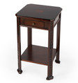 DANBURY INLAY SIDE TABLE - PLANTATION CHERRY FINISH - FREE SHIPPING*