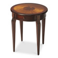 HYDE PARK ROUND INLAID SIDE TABLE - PLANTATION CHERRY FINISH - FREE SHIPPING*