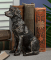 LABRADOR RETRIEVER SCULPTURE - BRONZE FINISHED METAL LAB SCULPTURE