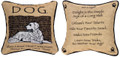 """ADVICE FROM A DOG"" REVERSIBLE TAPESTRY PILLOW - 12.5"" SQUARE - GIFTS FOR DOG LOVERS"