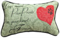 """DOGS LEAVE PAW PRINTS ON YOUR HEART"" THROW PILLOW - 12.5"" X 8.5"" - GIFTS FOR DOG LOVERS"