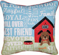 """MANS BEST FRIEND"" PILLOW - DOG LOVERS PILLOW"