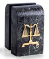 SCALES OF JUSTICE MARBLE BOOKENDS - LEGAL - LAWYER