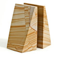 OXFORD STREET NATURAL STRIATED MARBLE BOOKENDS