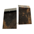 """CAMBRIDGE SQUARE"" TIGER EYE MARBLE BOOKENDS"