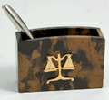 SCALES OF JUSTICE PEN HOLDER