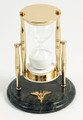 """""""SANDS OF TIME"""" 30-MINUTE HOURGLASS SAND TIMER ON MARBLE BASE WITH NURSING PROFESSION EMBLEM"""