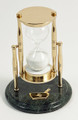 """SANDS OF TIME"" 30-MINUTE HOURGLASS SAND TIMER ON MARBLE BASE - PHARMACIST"