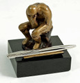 "THE THINKER"" PEN HOLDER - PEN STAND"