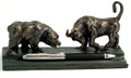"""WALL STREET"" BULL & BEAR DOUBLE PEN HOLDER - PEN STAND"