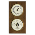 """CAPE COD"" TIDE CLOCK  AND COMBINATION BAROMETER & THERMOMETER ON OAK WOOD BASE"