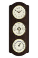 """TIDEWATER"" CLOCK - TIDE CLOCK - COMBINATION BAROMETER & THERMOMETER ON ASH WOOD BASE"