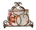 """PALACE GATES"" BRONZE SCROLL MAGAZINE RACK"