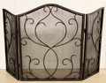 """CASTELLO TOLEDO"" SCROLL FIREPLACE SCREEN - BRONZE FINISH"