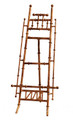 """CANTON"" BAMBOO STYLE TABLETOP DISPLAY EASEL - DISPLAY STAND - SMALL PICTURE STAND - ANTIQUE GOLD FINISH - 16""H EASEL"