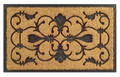 "FIRENZE RECTANGULAR RUBBER BACK COIR DOORMAT - 18"" X 30"" - WELCOME MAT"