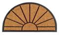 """SUNBURST DEMILUNE RUBBER BACKED COIR DOORMAT - 18"""" x 30"""" -  DOOR MAT - WELCOME MAT"""