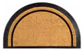 "MAYFAIR DEMILUNE RUBBER BACK COIR DOORMAT - 20"" X 32"" - HALF ROUND WELCOME MAT"