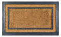 "MAYFAIR RECTANGULAR RUBBER BACK COIR DOORMAT - 18"" x 30"" - WELCOME MAT"