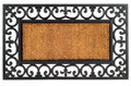 """FONTAINEBLEAU"" FLEUR DE LIS RUBBER BACK COIR DOORMAT - 18"" X 30"" - WELCOME MAT"