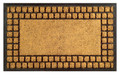 "CHARLESTON RUBBER BACK COIR DOORMAT - 18"" X 30"" - DOOR MAT - WELCOME MAT"