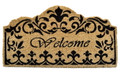 "REGAL FLEUR DE LIS COIR WELCOME MAT - 18"" x 30"" - DOORMAT"