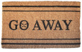"GO AWAY COIR DOORMAT - 18"" x 30"" - WELCOME MAT"