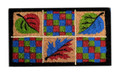"COLORFUL LEAVES COIR DOORMAT - 18"" x 30"""