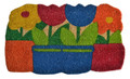 "FLOWER POTS COIR DOORMAT - 18"" x 30"" - VINYL BACK COIR DOOR MAT"