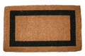 "BELGRAVIA TRADITIONAL COIR DOORMAT - 22"" X 36"" - BORDER DOOR MAT"