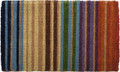 """RAINBOW STRIPE"" EXTRA THICK COIR DOORMAT - WELCOME MAT - 18"" X 30"""